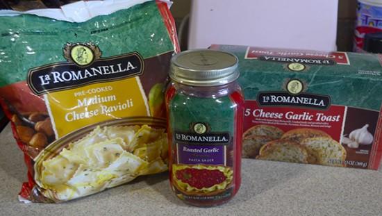 make ahead ravioli bake supplies