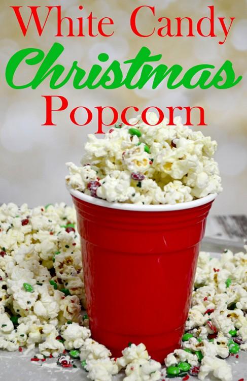 white candy christmas popcorn