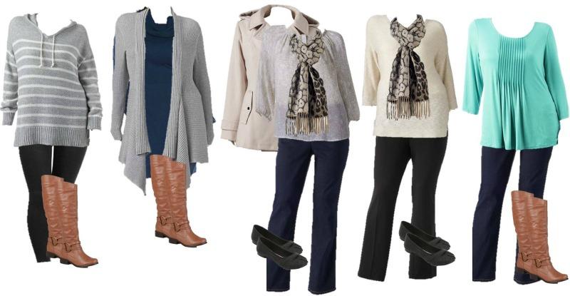 Plus Size Mix And Match Winter Fashion Great Wardrobe