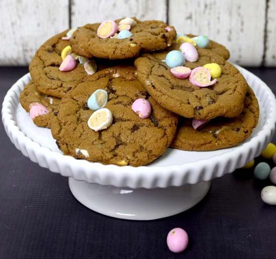 chocolate malted milk cookies 2