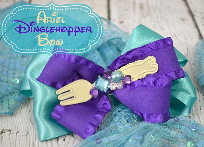 Disney\'s Ariel Dinglehopper Hair Bow! Easy Craft Tutorial! - Pink ...