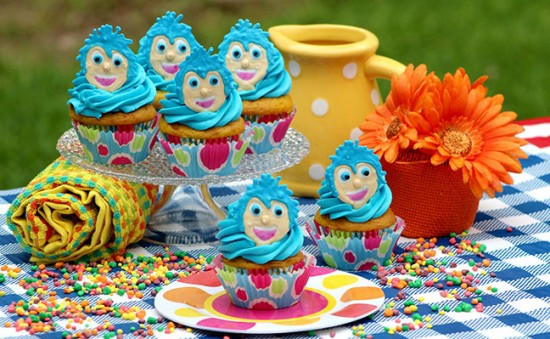Disney/Pixar's Inside Out Movie Joy Inspired Cupcakes slider