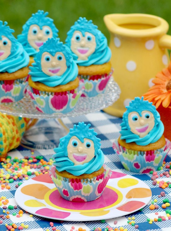 Disney/Pixar's Inside Out Movie Joy Inspired Cupcakes Tutorial and Recipe