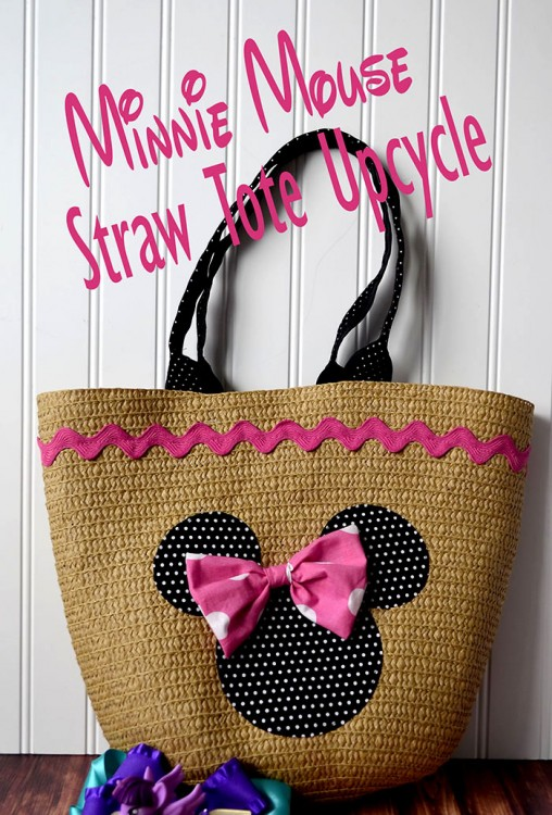 minnie mouse straw tote 2