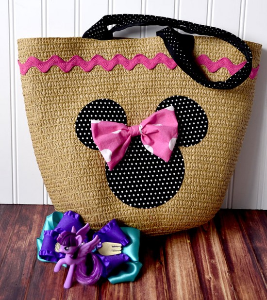 minnie mouse straw tote 3