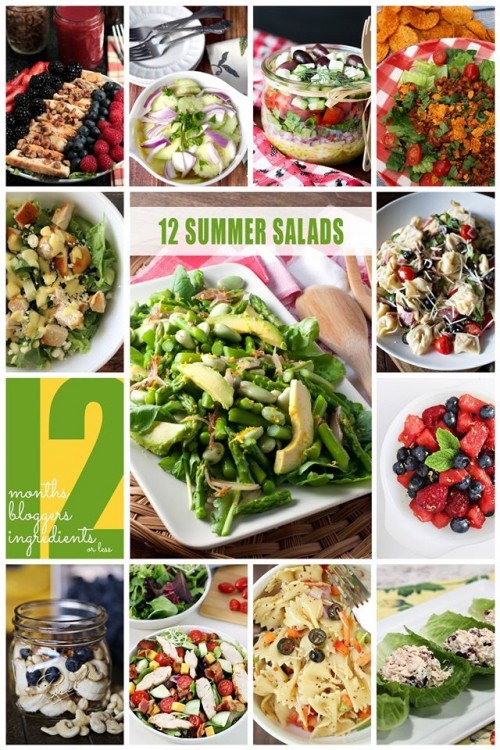 12 bloggers summer salads