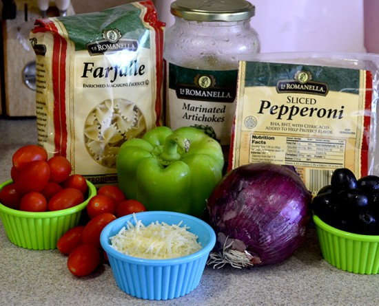 Italian Pasta Salad Ingred