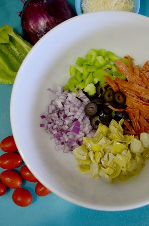 chopped ingred in bowl