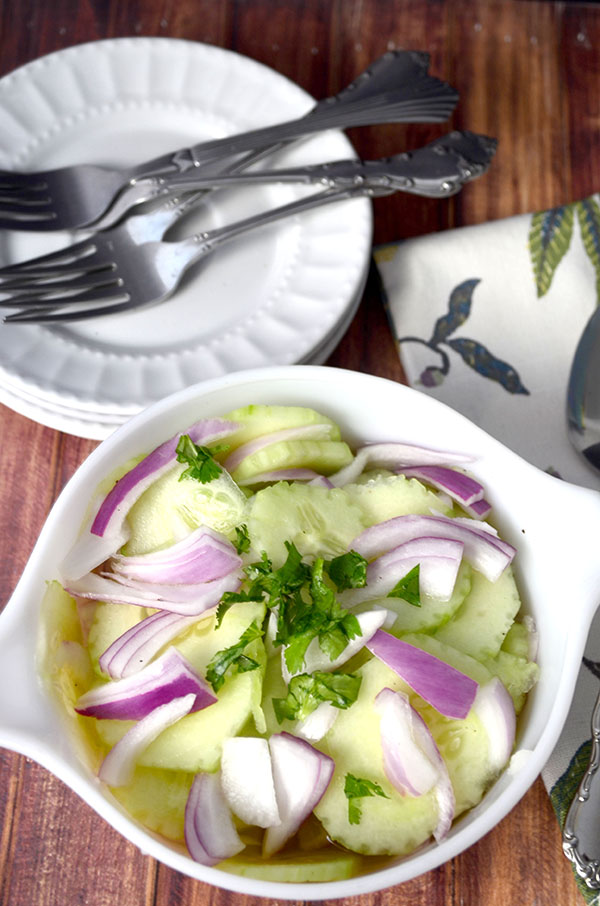 cucumber and onion salad hero