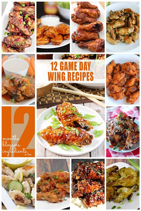 12 game day wing recipes