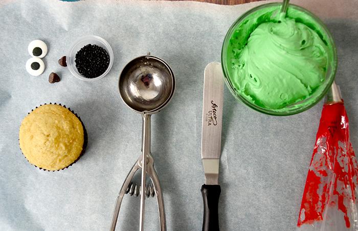 Frankenstein cupcake 1