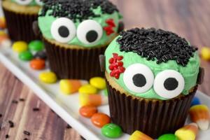 Frankenstein Cupcake Tutorial