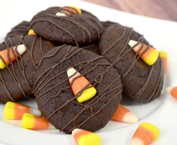 chocolate candy corn cookie 4