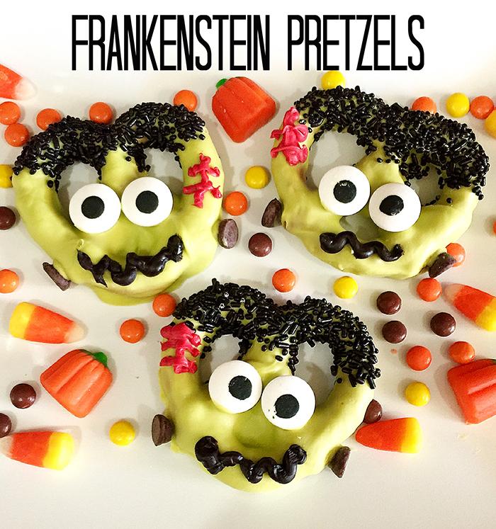 frankenstein Pretzels