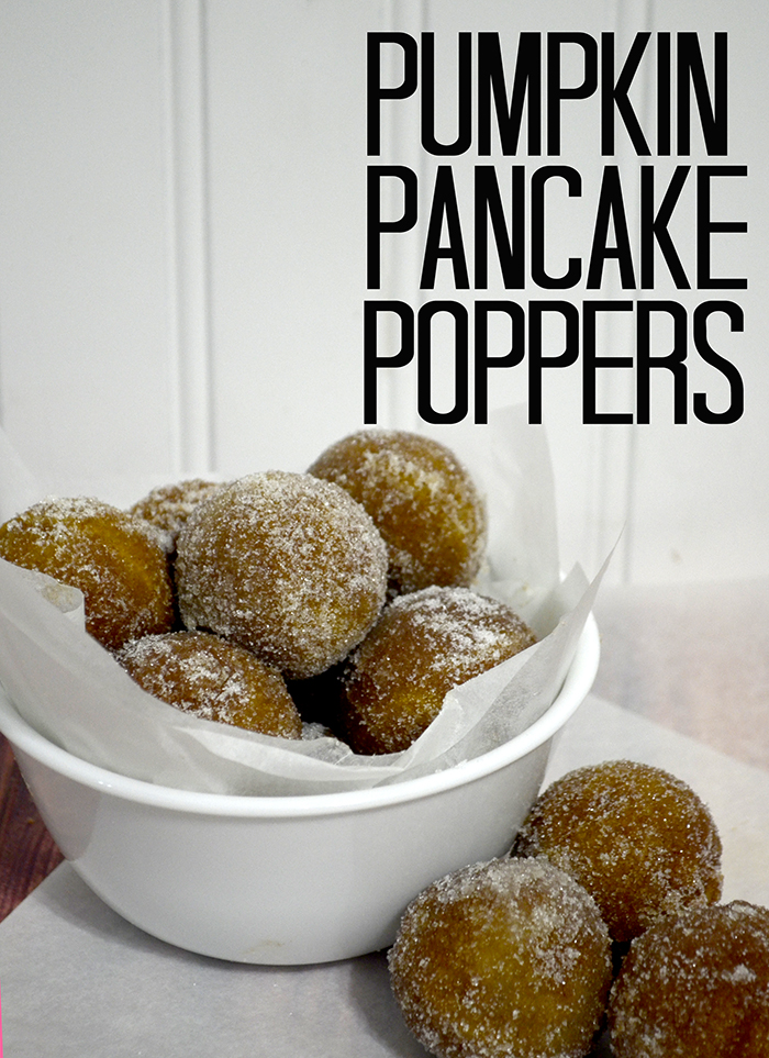 Pumpkin Pancake Poppers