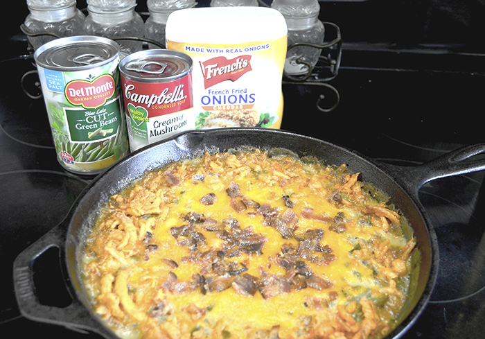 Bacon Cheddar Green Bean Casserole 1