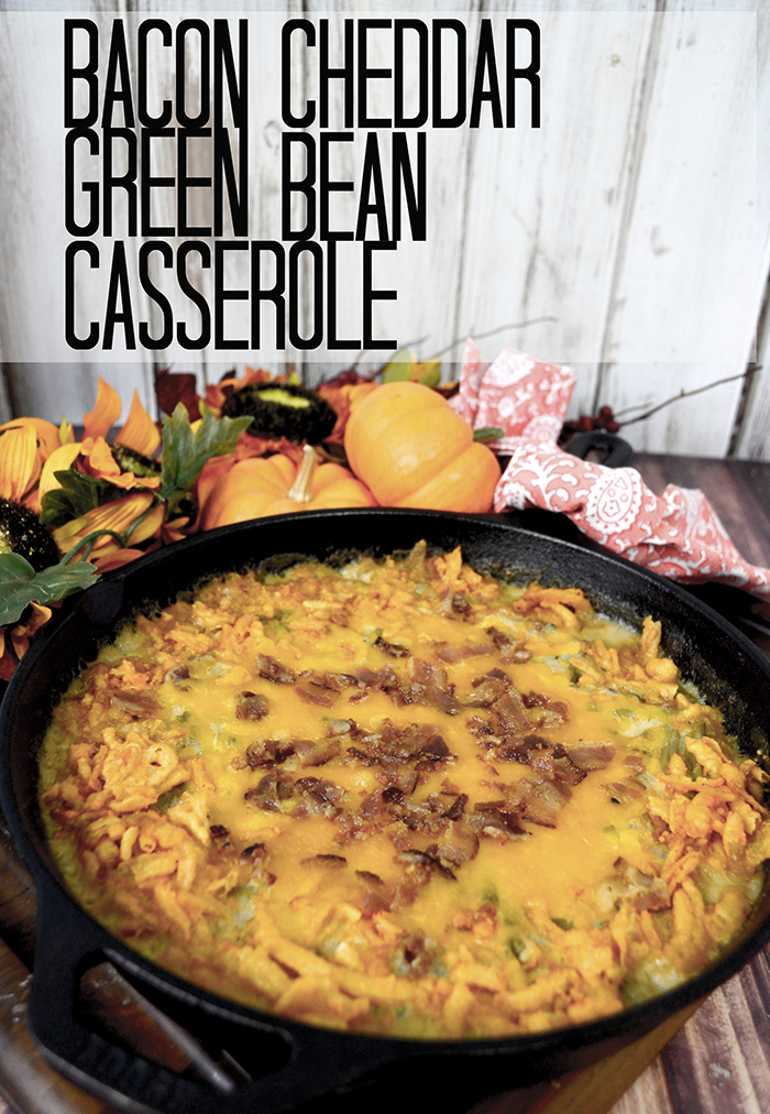 Bacon Cheddar Green Bean Casserole 3