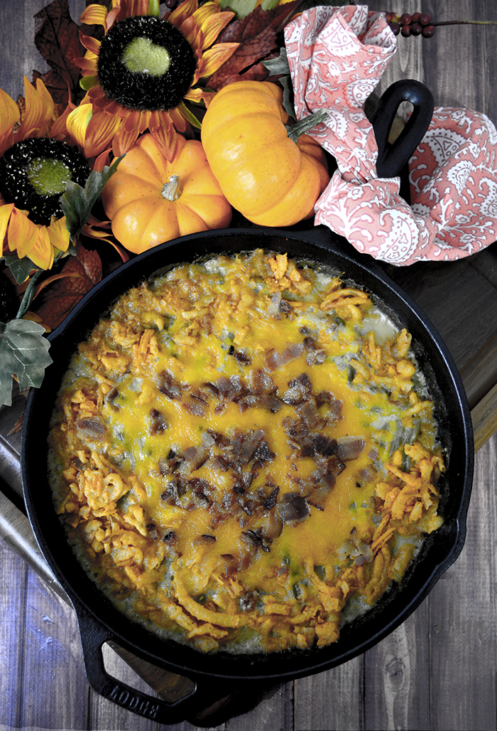 Bacon Cheddar Green Bean Casserole 4