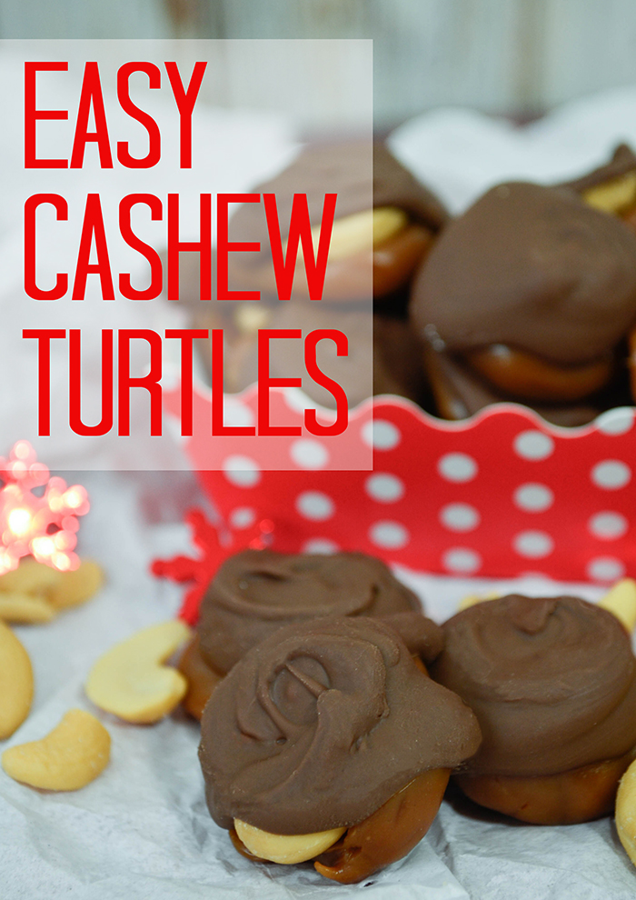 Easy Cashew Turtles at Pink Cake Plate