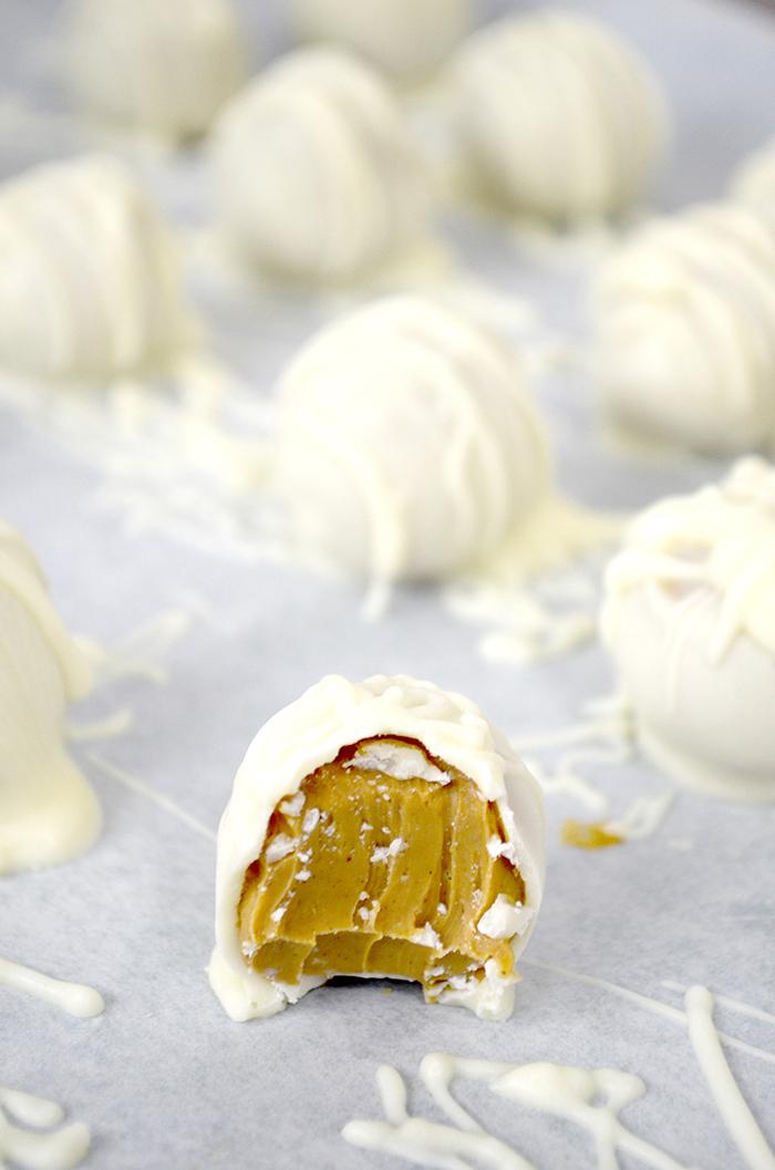 peanut butter truffle snowballs 1