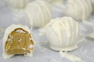 Peanut Butter Truffle Snowballs