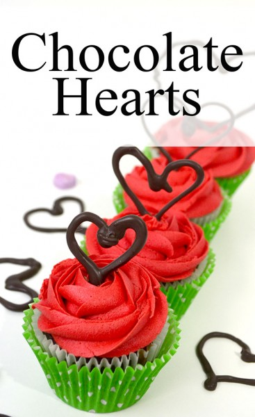 This easy Chocolate Heart tutorial will dress up even the plainest cupcake!
