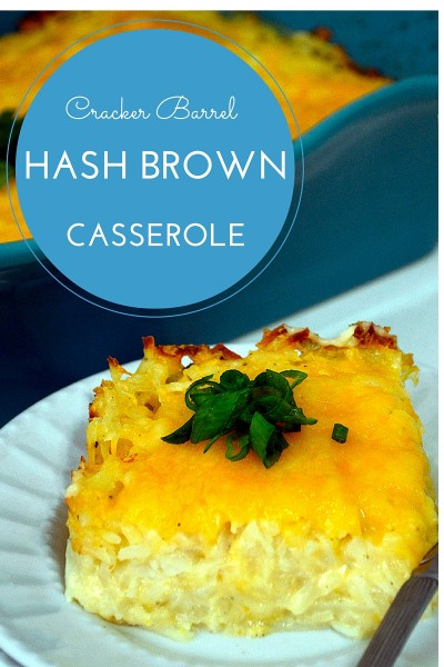 I finally cloned my own recipe! My Cracker Barrel Hash Brown Casserole is a bit more cheesier because we love delicious colby cheddar cheese!