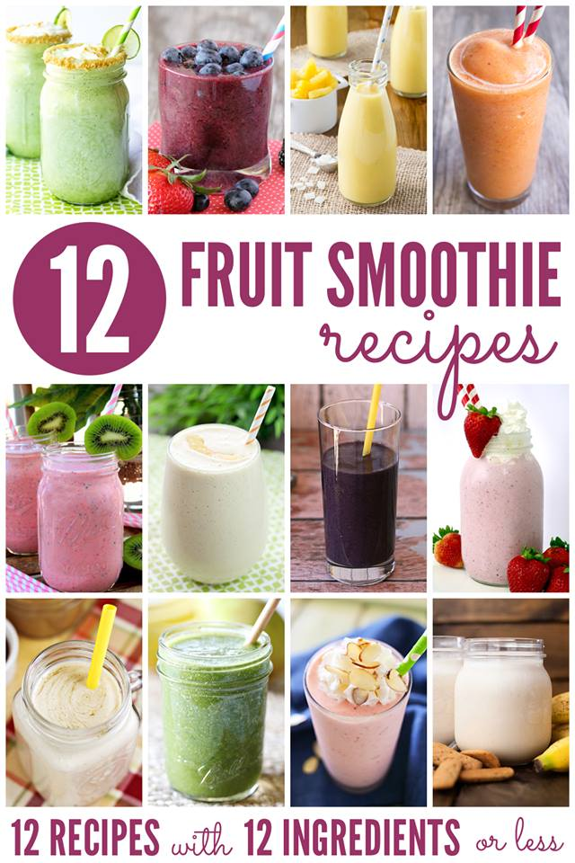 12 bloggers fruit smoothies
