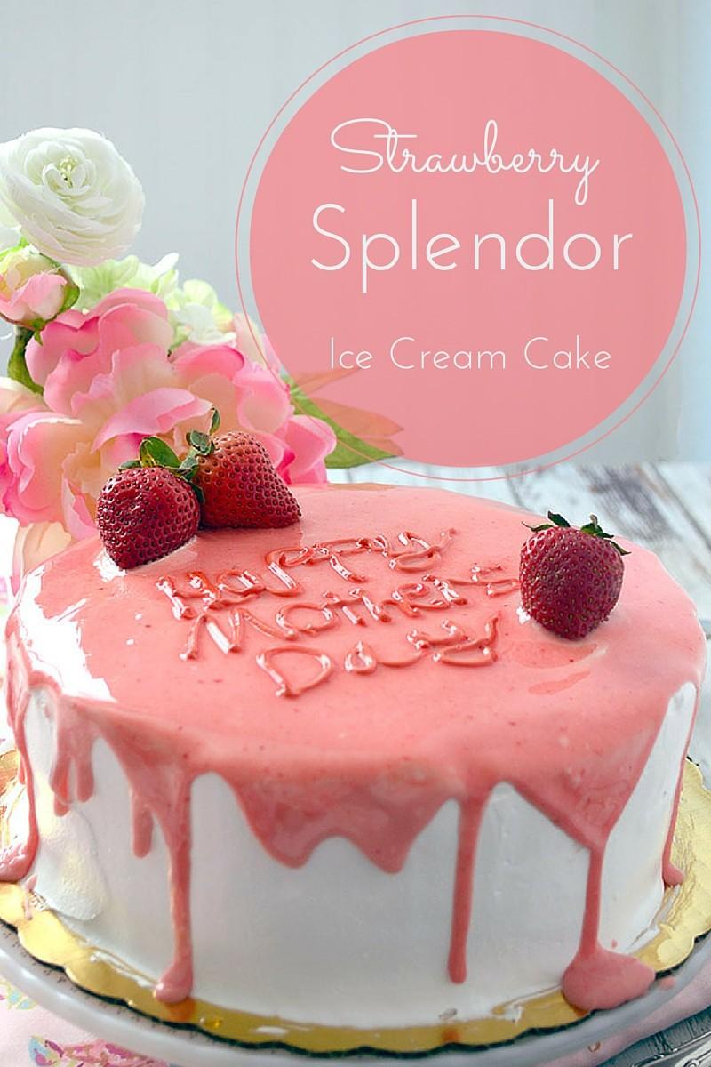 strawberry splendor cake