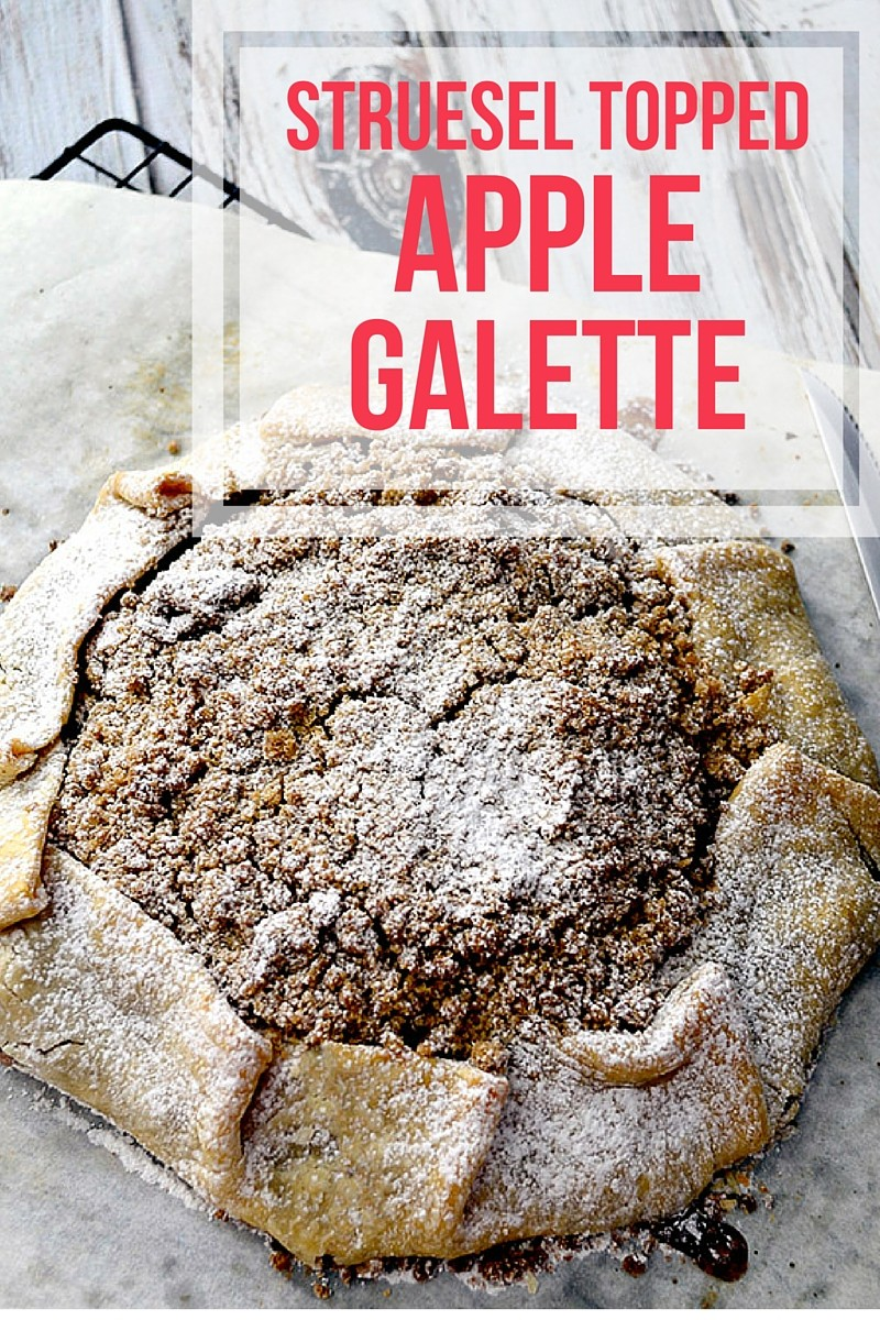 struesel topped apple galette
