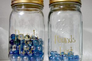 Weight Loss Progress Jars Easy DIY Project