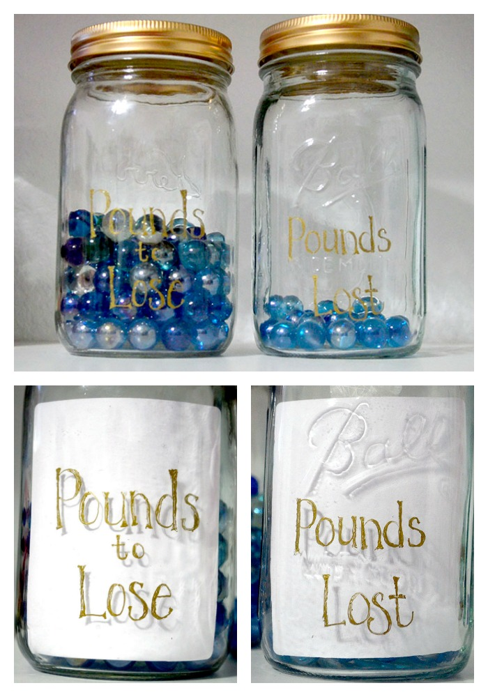 Weight Loss Progress Jars Easy Diy Project Pink Cake Plate