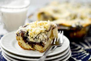 Blackberry Crumble Coffee Cake