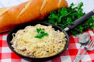 One Pan Cheesy Garlic Pasta