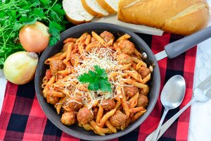 Easy Meatball Marinara Penne