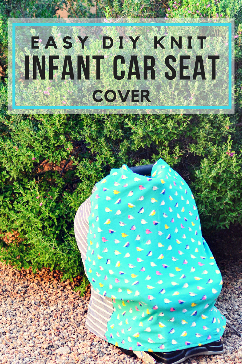 Easy DIY Knit Infant Car Seat Cover - Pink Cake Plate
