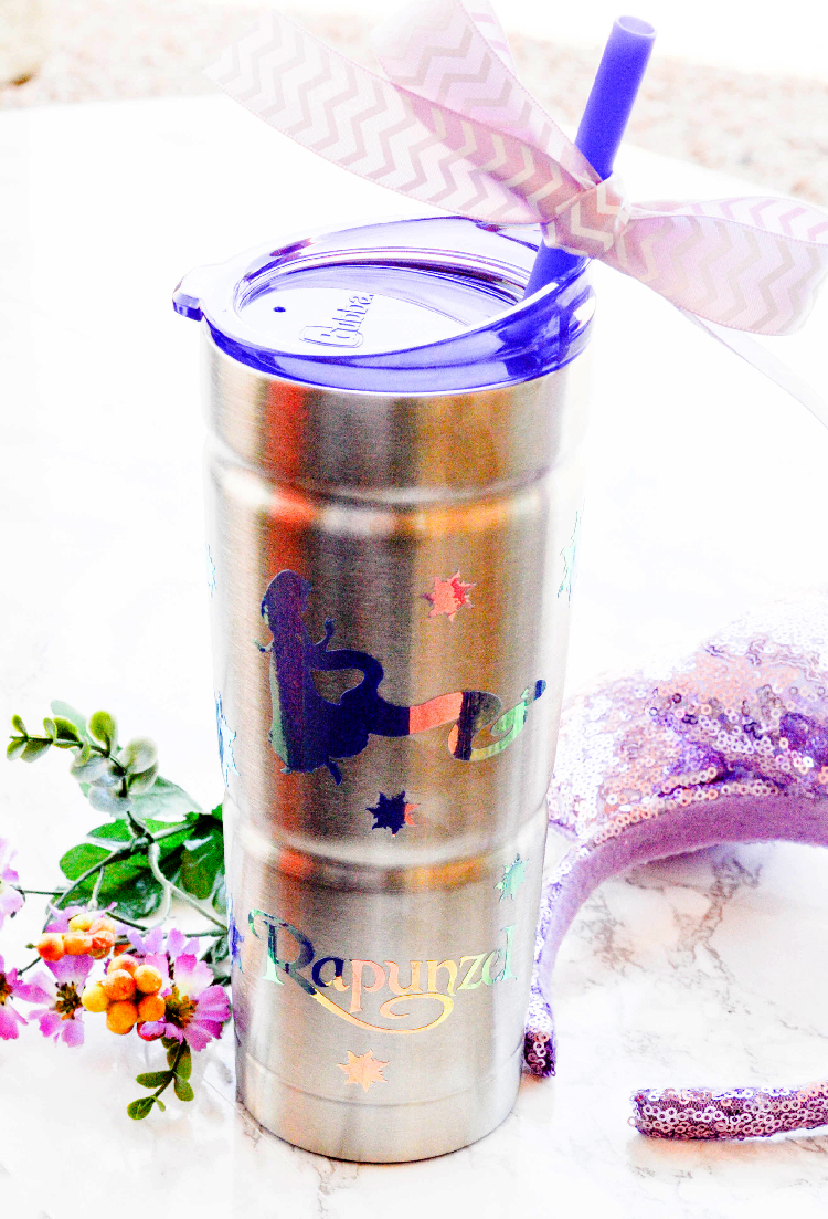 Diy Rapunzel Stainless Steel Travel Cup Pink Cake Plate