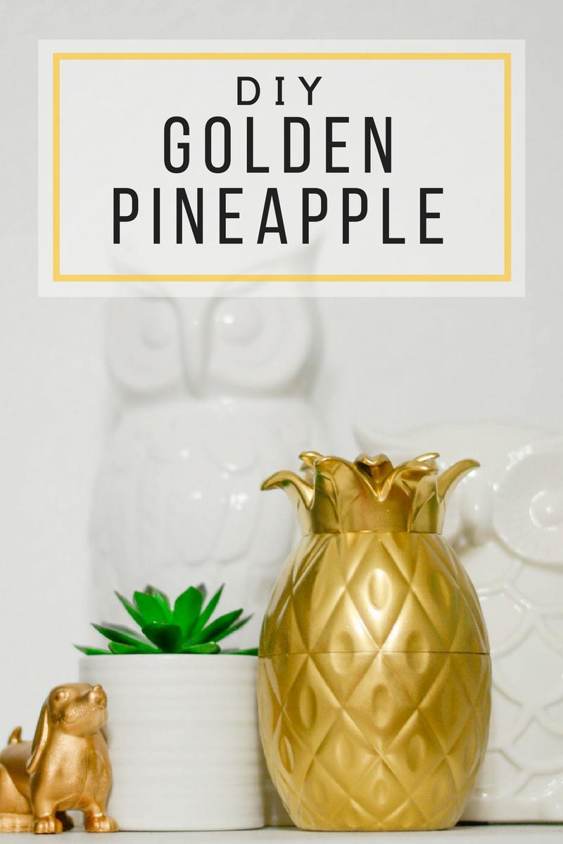 DIY Golden Pineapple Decor pinkcakeplate.com