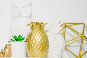 DIY Gold Pineapple Decor