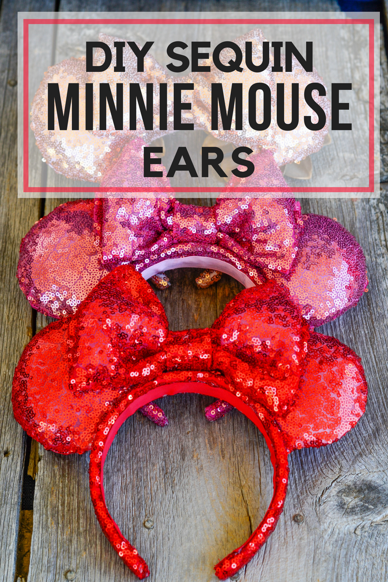 Diy Sequin Minnie Mouse Ears Pink Cake Plate