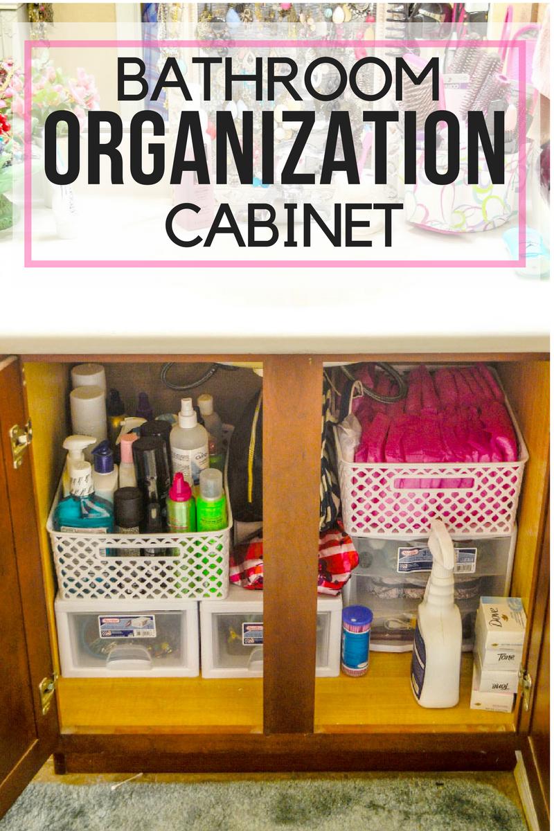 Bathroom Cabinet Organization Pink Cake Plate