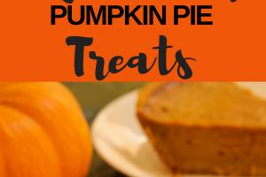 Dog Friendly Pumpkin Pie Treats