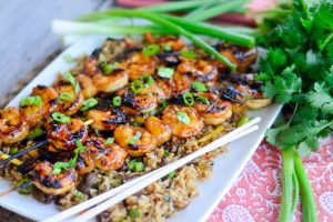 Grilled Pineapple Teriyaki Shrimp