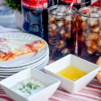 Pizza and a COCA-COLA plus 2 Dipping Sauce Recipes