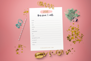 2018 I Will… Free Printable Goal Worksheet