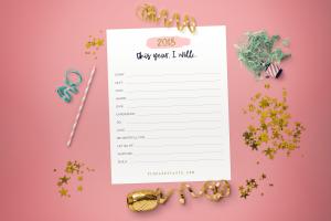 2018 I Will… Free Printable Goal Worksheet