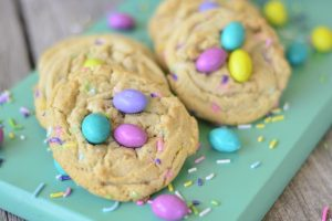 Peanut Butter Candy Confetti Cookies