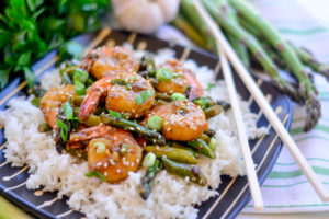 Asparagus and Shrimp Stir Fry