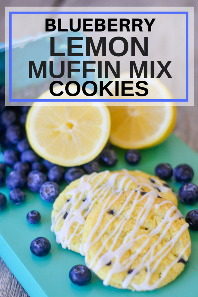 Blueberry Lemon Muffin Mix Cookies