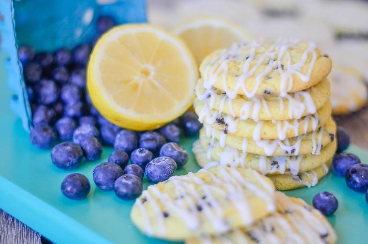 Blueberry Lemon Muffin Mix Cookies
